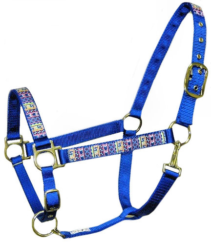 Blue Tribal Trimmed Halter
