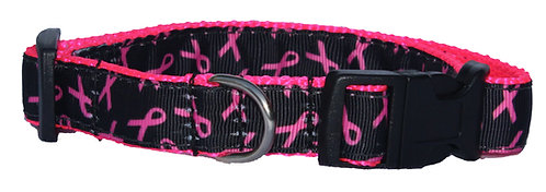 Neon Breast Cancer Support Trimmed Collar
