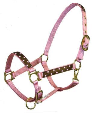 Pink Polka Dots Trimmed Halter