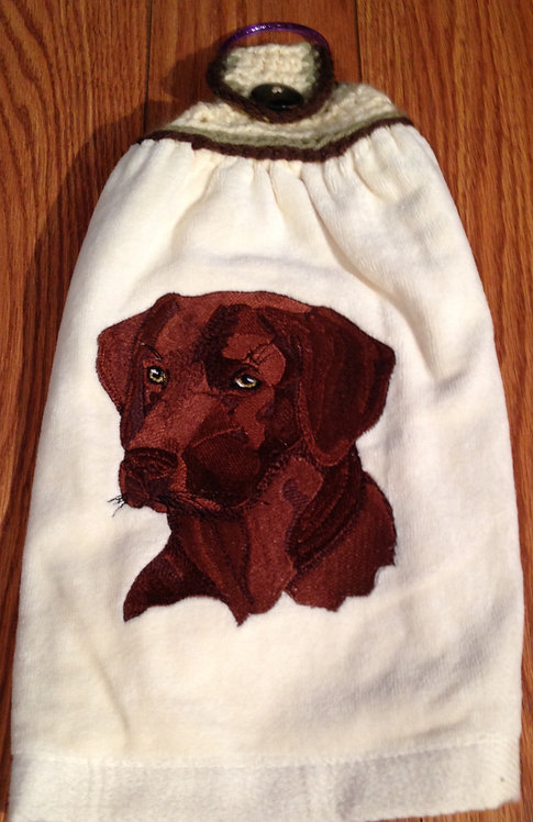 Chocolate Lab Hand Towel