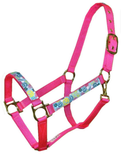 Peace Love and Happiness Trimmed Halter