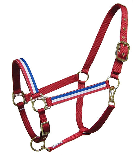Red, White, and Blue Trimmed Halter