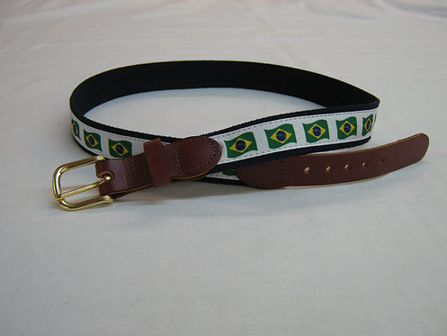 Brazil Flag Trimmed Belt