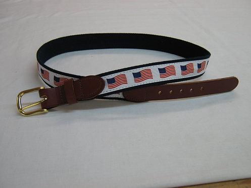USA Flag Trimmed Belt
