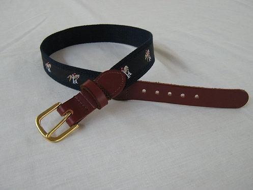 Jumping Horse Trimmed Belt