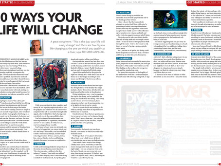 Diver magazine feature: 10 ways diving will change your life
