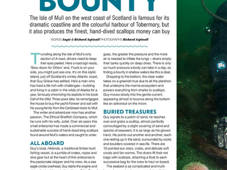 Coast magazine: Diving for Scallops with Guy Grieve