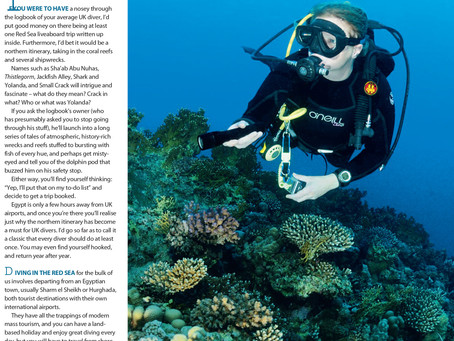 Diver magazine feature: Itinerary Number One
