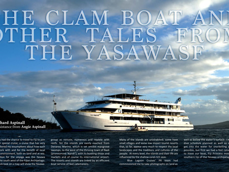 Depth magazine feature on diving in Fiji