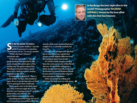 Diver magazine feature: Barge nights