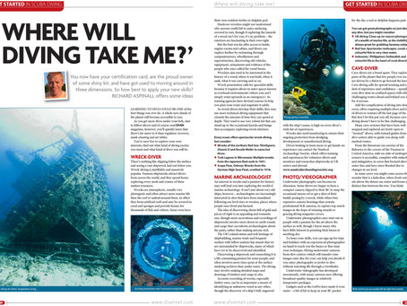 Diver magazine feature: Where will diving take me?
