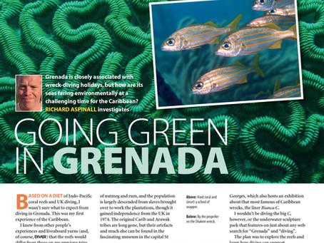 Diver magazine feature: Going Green in  Grenada