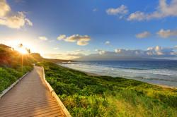 Sunset walk in Kapalua, Maui