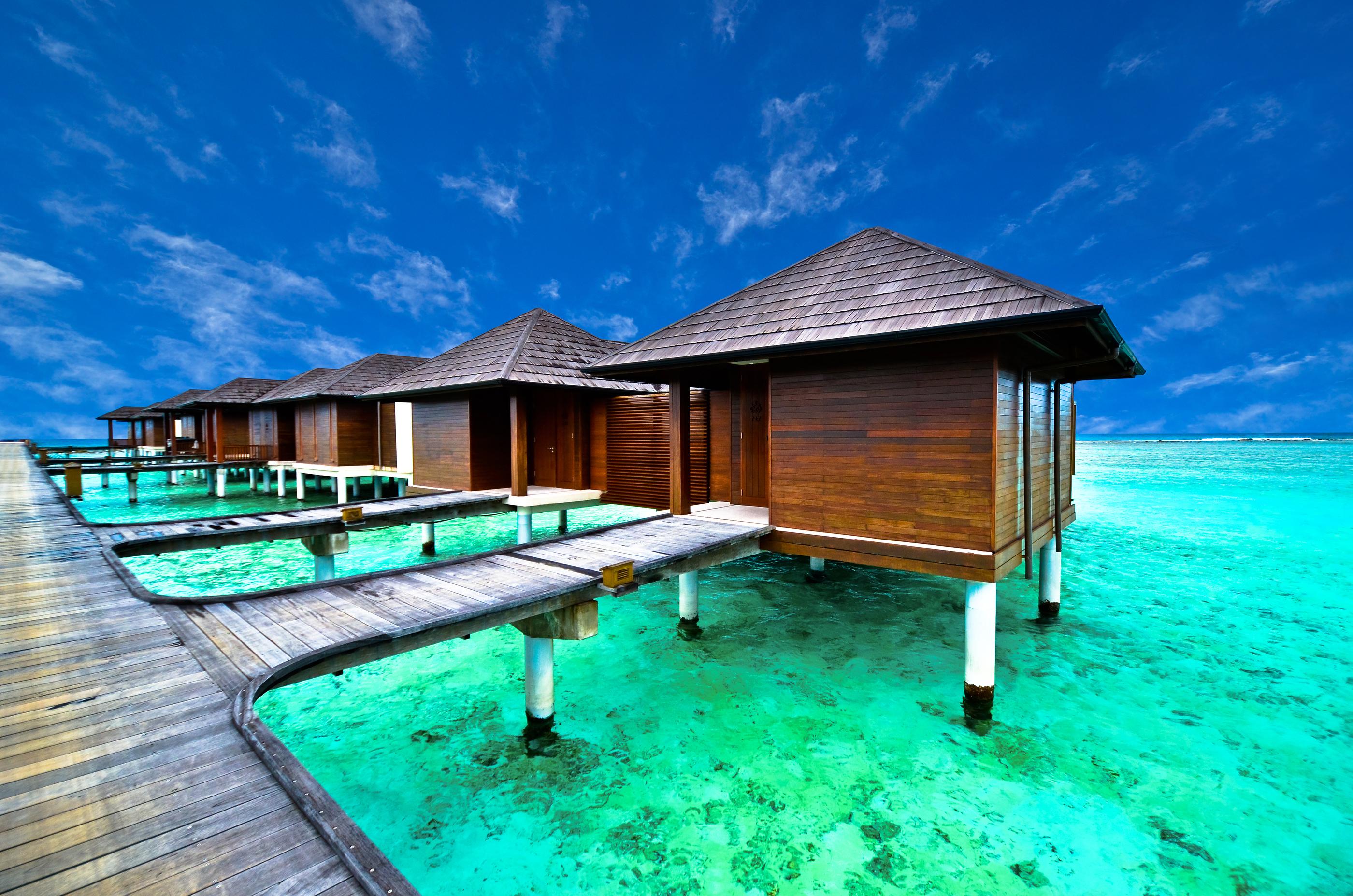 Overwater Bungalows in Tahiti