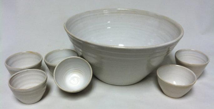 5pc. punch bowl set with ladle