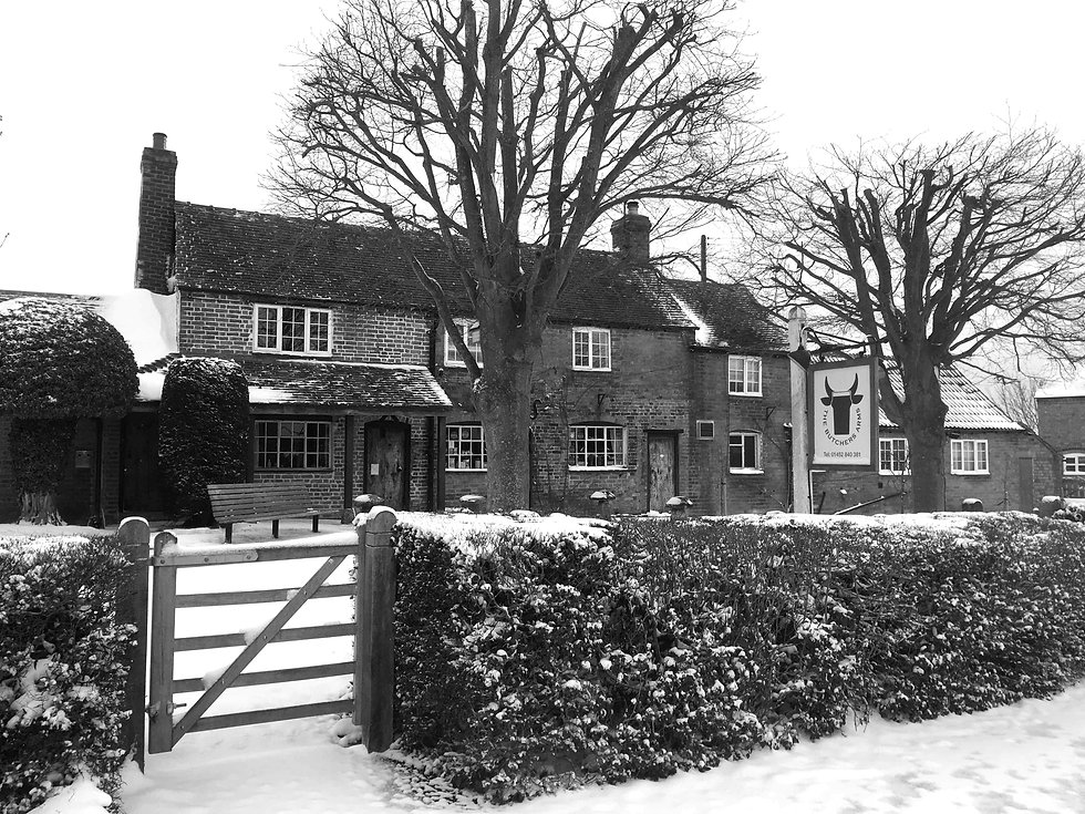 The Butchers Arms Eldersfield - Winter