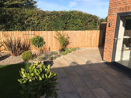 Patio slab landscaping, building and groundorks
