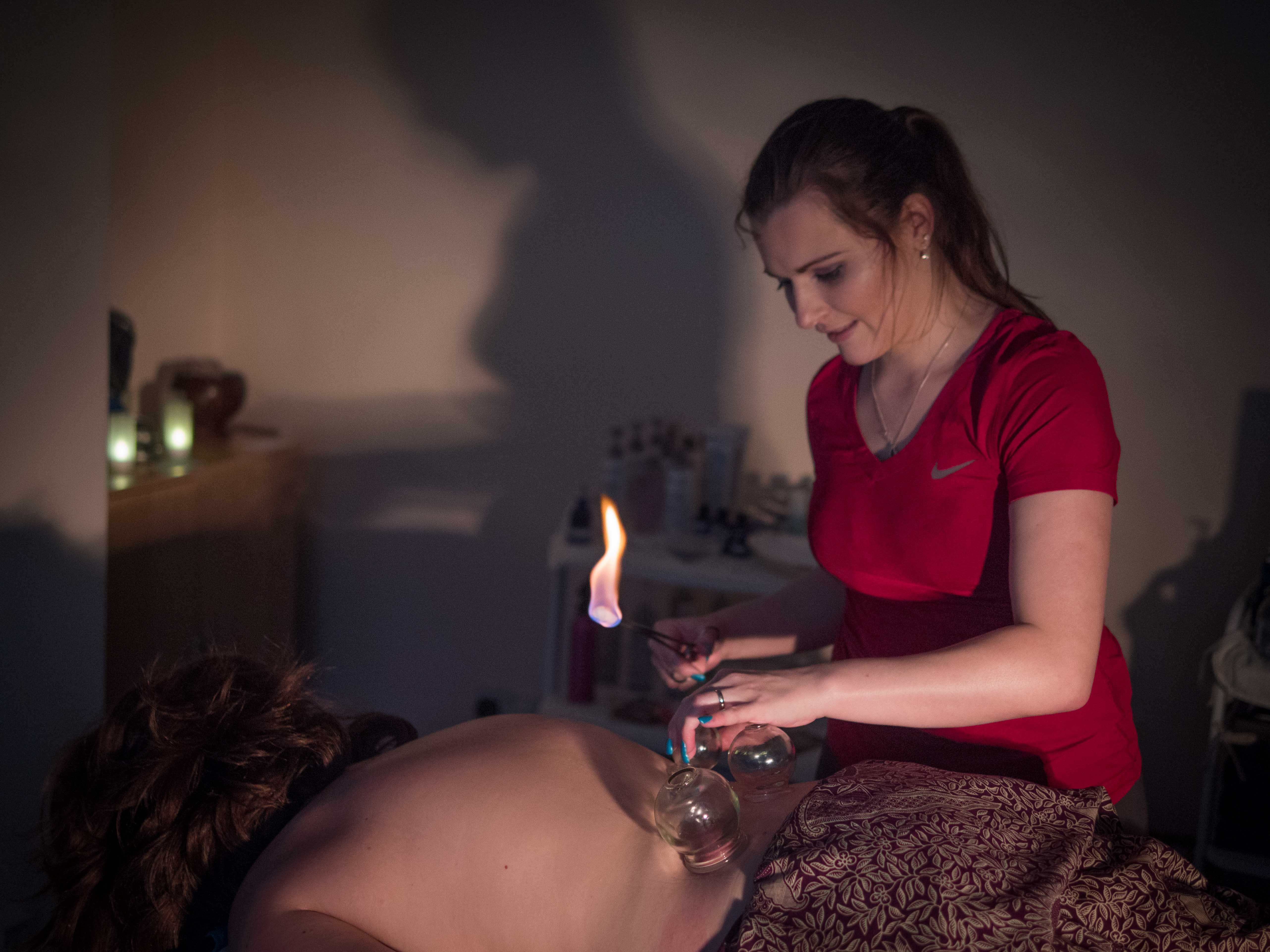Fire Cupping Massage