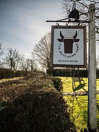 The Butchers Arms Eldersfield Signpost