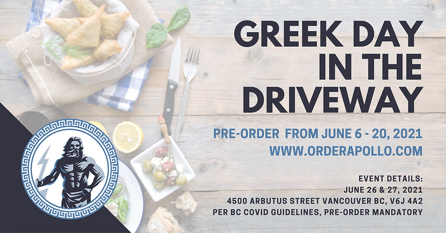 FACEBOOK AD - GREEK DAY IN THE DRIVEWAY.