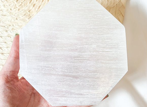 Selenite Cleansing plate Octagon