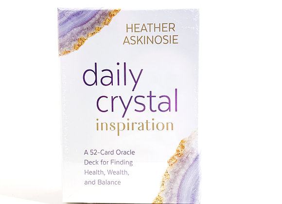 Daily Crystal Inspiration Oracle Cards by Heather Askinoise