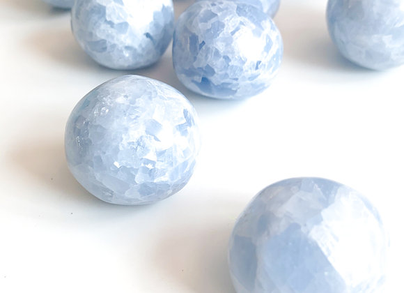 Blue Calcite Tumble (2 pieces)