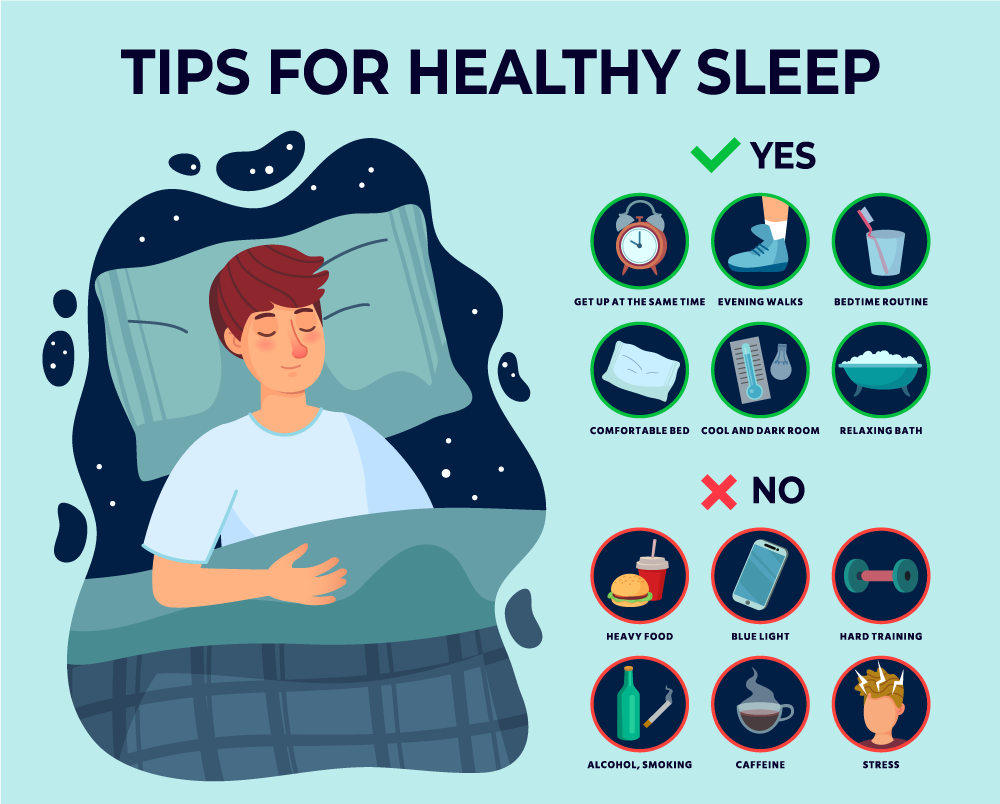 tips for healthy sleep, what to do, and what not to do