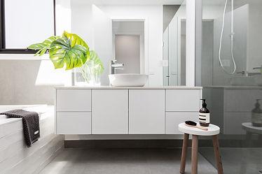 Modern White Vanity - Corfield Bathrooms