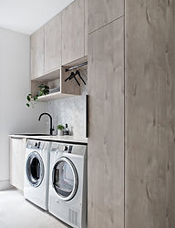 Laundry - Corfield Kitchens - marble Til