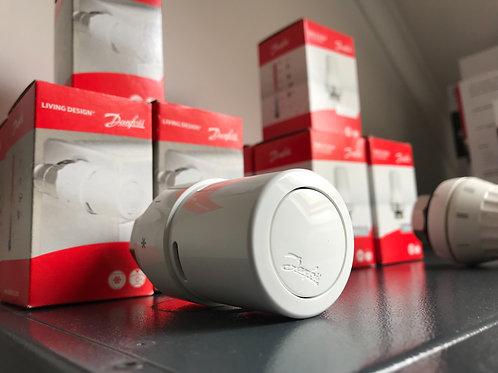 Lot tête themostatique Danfoss + thermostat