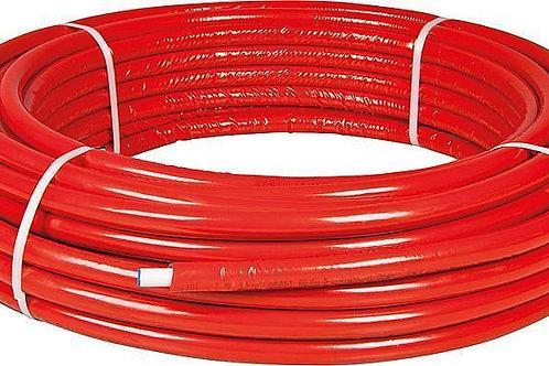 Tuyau multicouches Bonfix DN 20 x 2,0 isolé Bleu ou Rouge bobine 50m