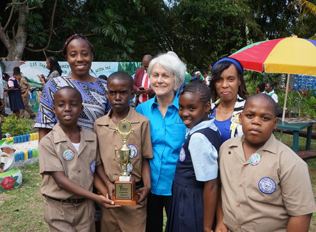 George Headley Primary School Creates Peace of Paradise Garden