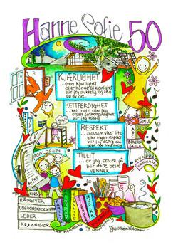Invitasjon til 50 årsdag