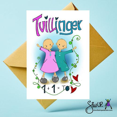 Tvillingkort jente og gutt
