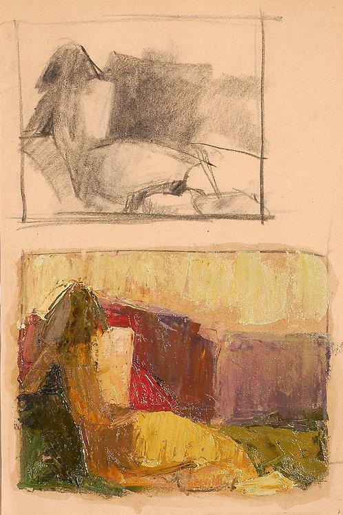 Berta Goldwaser, 'Bocetando 1'