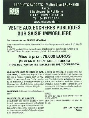 Affiche de vente audience du 12.04.21_pa