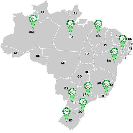Mapa de Parceiros - Atualizado Fev 2021.