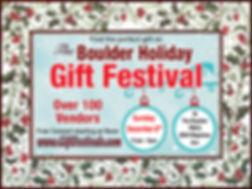Boulder Holiday Gift Festival - 2019 Log