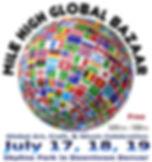 Mile High Global Bazaar - 2020 Logo with