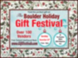 Boulder Holiday Gift Festival - 2020 Log
