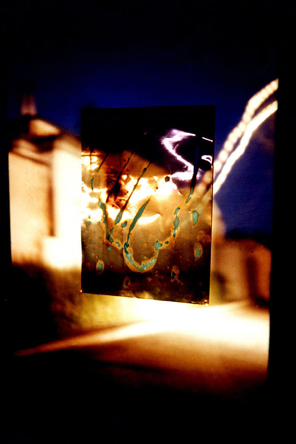 1   Incendiati, 1996, videoproiezione su