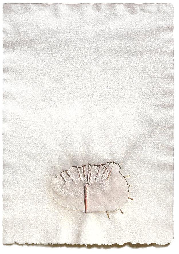 7 Indagine sull'isola, 1984, carta, gess