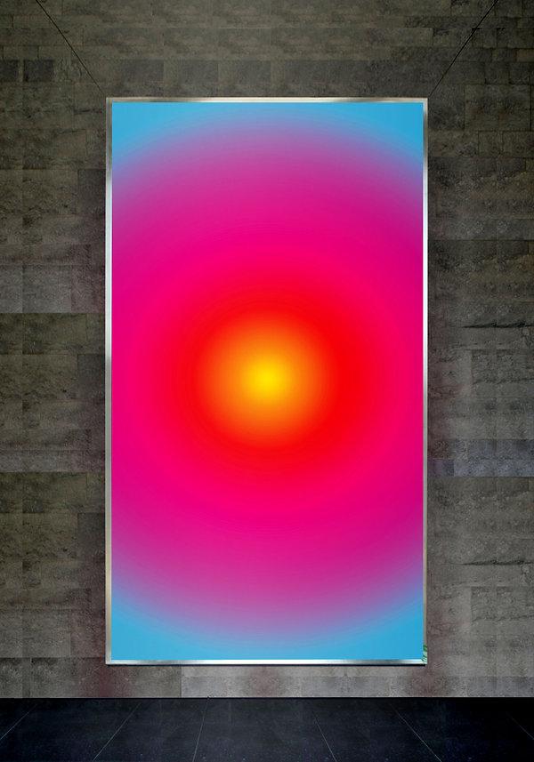 7 Dare luce, 2007, serigrafia su vetro,