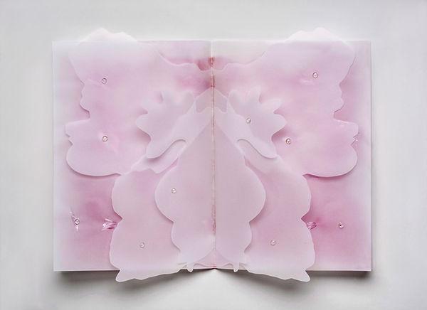 2 2014, 30x42 cm carta da lucido,taglio,