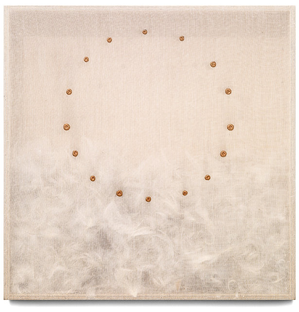 7  Piumario, 1982, organza, piume, oro-