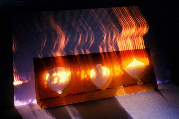 7   Incendiati, 1996, videoproiezione su