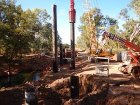 Pile Intregrity Testing (CAPWAP) at McArthur River Bridge Site