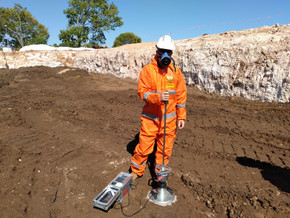 Compaction testing for contaminated sites - containment cell