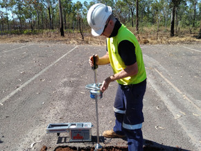 Light Falling Weight Deflectometer testing for the Palmerston Fire Station Site